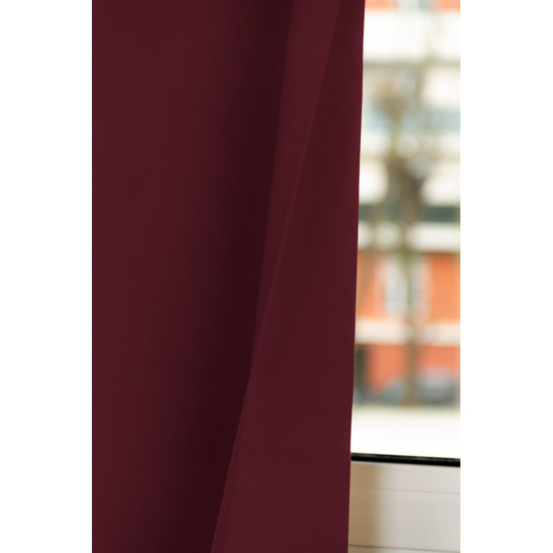 Rideau Occultant Total Sur Mesure Revolution Rouge Bordeaux MC337