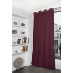 Rideau Occultant Uni Rouge Bordeaux MC337