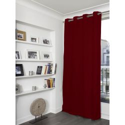 Rideau Obscurcissant Aspect Lin Country Baby Rouge Griotte MC11